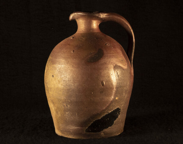 Rustic French redware jug