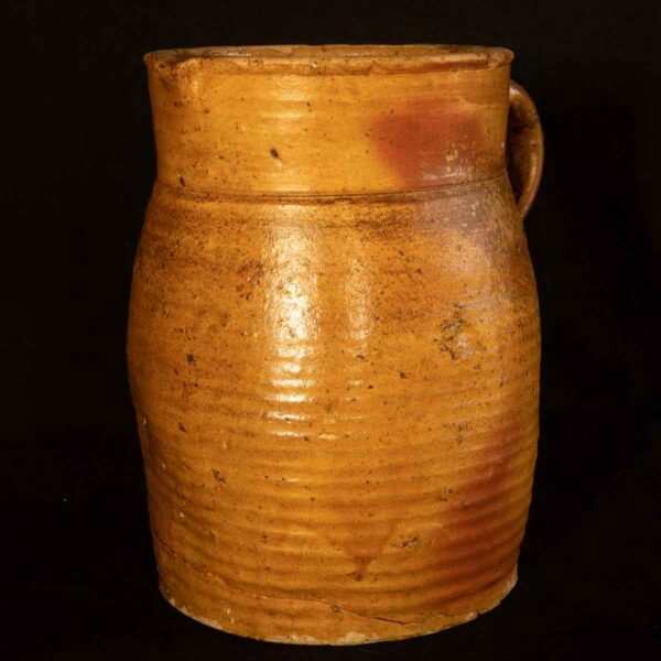 French antique earthenware jug