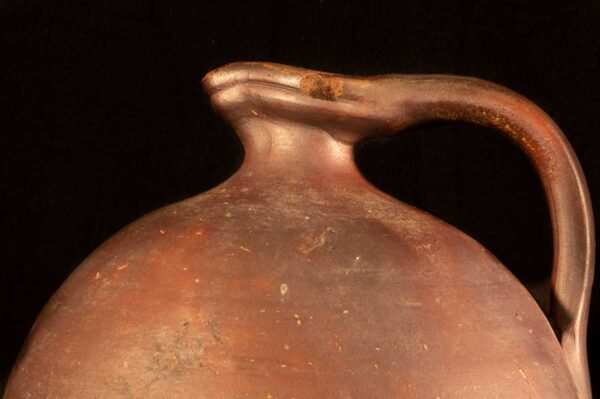 Antique French redware Jug